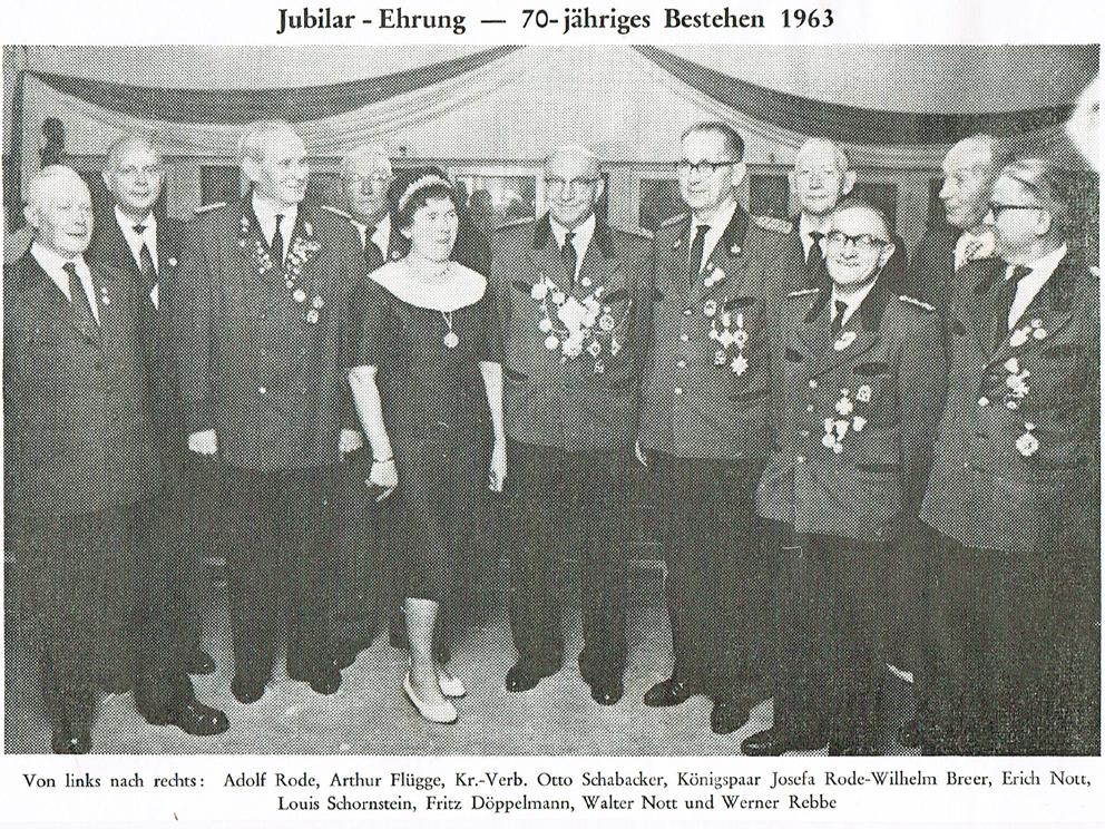 70-jähriges 1963 - Schützenverein Hagen Holthausen