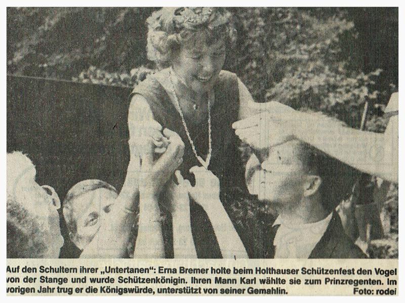 Erna I. 1989 - Schützenverein Hagen Holthausen